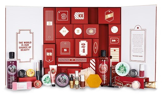 thebodyshop calendrier beauty noel
